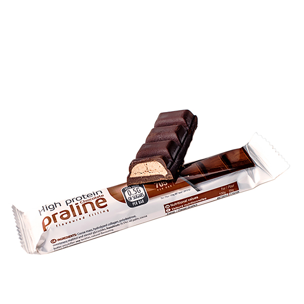 Čokoláda s pralinkovo-orieškovou náplňou (35 g)